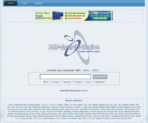 Mp3 Search Engine Script