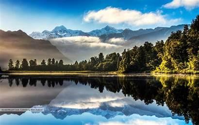 Lake Matheson Windows Themes Mountain Zealand Sunrise