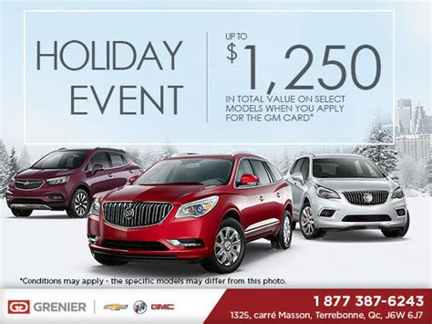 Buick Event by Buick S Sale Grenier Chevrolet Buick Gmc