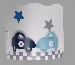 Applique Murale Chambre Enfant : applique chambre gar on auto gris bleu fabrique casse noisette ~ Teatrodelosmanantiales.com Idées de Décoration