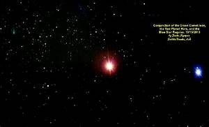 Comet Ison, Mars, & The Blue Star Regulas