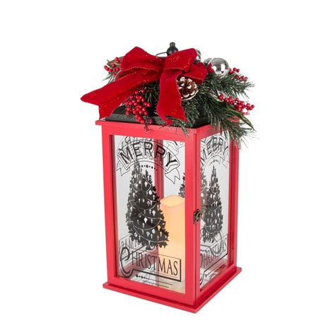 Holiday Christmas Rugs home accents holiday 23 in h red wooden lantern with