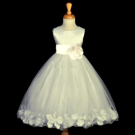Charming Ivory Color Flower Dress Collection For Girls