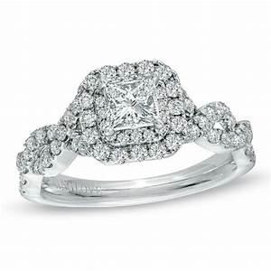 vera wang love collection 1 ct tw princess cut diamond With vera wang wedding rings love collection