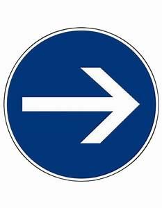 Panneau De Signalisation Personnalisé : panneau de signalisation rond sens obligatoire ~ Dailycaller-alerts.com Idées de Décoration