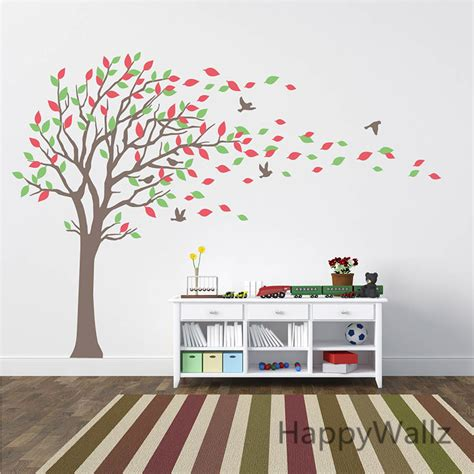 sticker arbre chambre b large tree wall stickers baby nursery tree wall decals