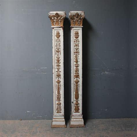 kitchen island bases pair of decorative corinthian wooden columns accessories