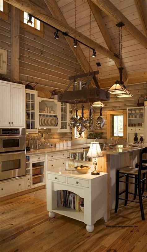 ideas  log home kitchens  pinterest log