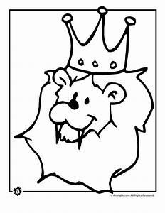 Lion Face Coloring Page - Coloring Home