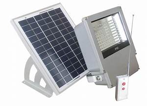 Led outdoor solar powered wall mount flood light with