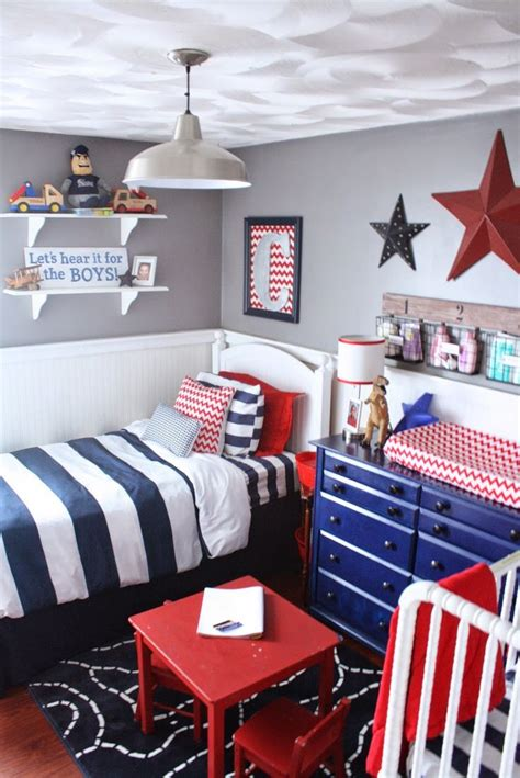 Bedroom Ideas For Boy And by Boys Room Decor Boys Blue Bedrooms Shared Boys Rooms