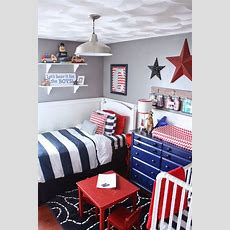 Boys Room Decor  Boys Blue Bedrooms  Shared Boys Rooms