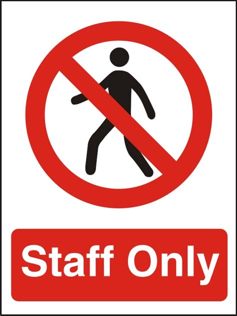 sliding door door staff only sign safety signs uk