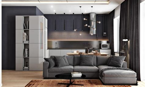 2 Masculine Interiors In Shades Of Grey Black And Brown 2 masculine interiors in shades of grey black brown