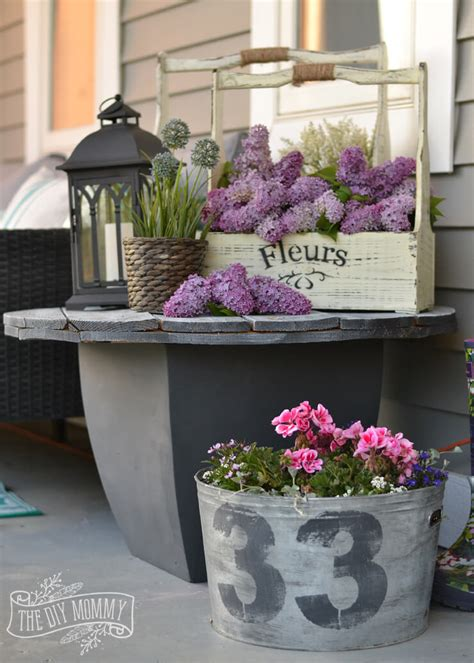 flower side table 47 best rustic farmhouse porch decor ideas and designs for