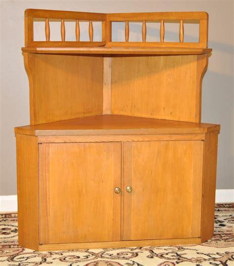 small corner kitchen cabinet attractive vintage light oak small corner cabinet