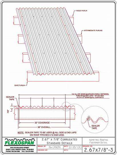 Corrugated Roofing Metal Overlap Fasteners Roof Panel