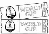 Cup Coloring Pages Tickets Fifa Coloringpagesfortoddlers Sheets Football Ticket Printable Sport Birthday Print Dari Disimpan Sports sketch template