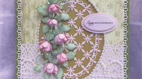 How To Make An Anniversary Card With Handmade Fuchsias