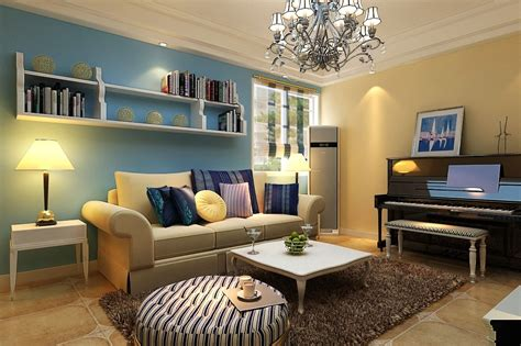 Mediterranean Style Small Apartment Living Room Decor Idea