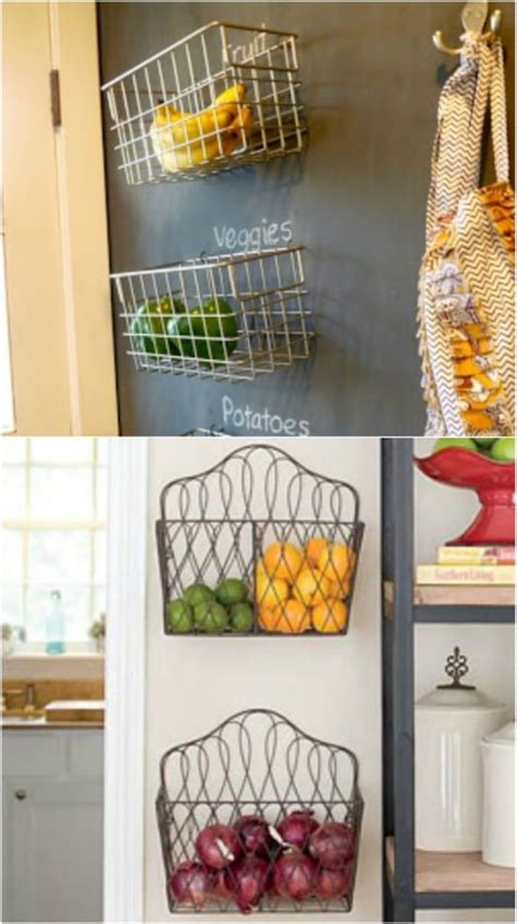 diy produce storage solutions  fresh fruit  veggies style motivation
