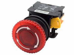 Mbl30 Ati Red 30mm Emergency Stop Push Button Switch 24v