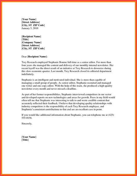 letter of recommendation template word word formal letter template memo exle