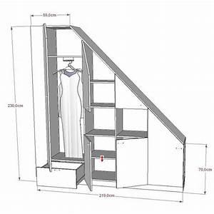 Rangement Sous Pente : meuble de rangements sous pente ou sous escalier sur mesure rangements pinterest ~ Preciouscoupons.com Idées de Décoration