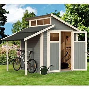 Abri De Jardin Avec Bucher : abri de jardin 4 08m notmark gris plancher trait ~ Dailycaller-alerts.com Idées de Décoration
