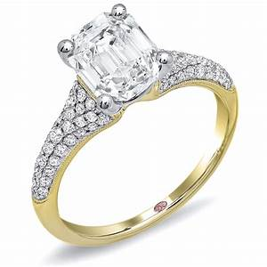 princess cut engagement ring dw5777 With wedding rings together