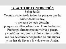 14 acto de contriccion – Catequesis de El Limón
