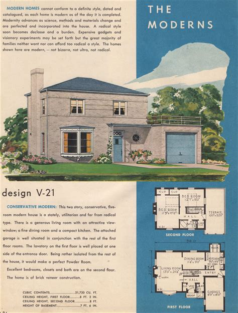 1945 moderne house plan style trends national plan service mcm design