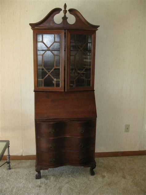 how tall is a desk tall mahogany antique secretary desk