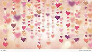 Dangling Pink Hearts Loopable Background 4k Stock ...