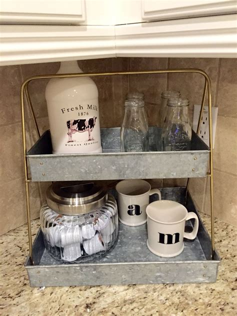Tv stand to coffee bar makeover thank you for watching my video. Coffee station. Stand from target. Accessories from Michael's and world market   Coffee station ...