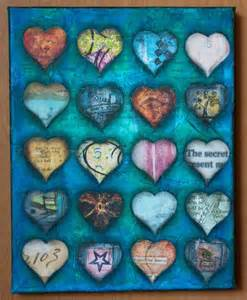 Heart Mixed Media Collage Art