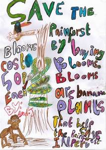 A bloomtrigger poster by Ayah. Save the rainforest by ...