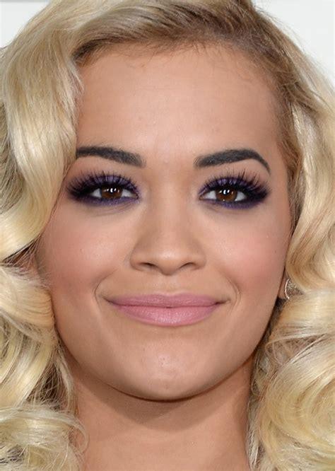 Rita Ora, Grammy 2014, purple eyeshadown and sof pink ...