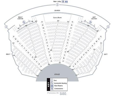 fine arts center seating maps