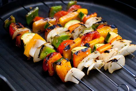 Grilled Vegetables On Grill
