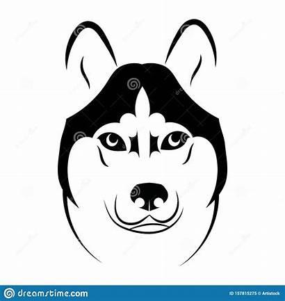 Husky Dog Head Portrait Tattoo Pet Ears
