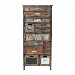 Commode 12 Tiroirs : commode vintage en bois california kare design ~ Teatrodelosmanantiales.com Idées de Décoration