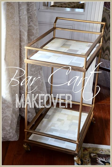Bar Makeover by Bar Cart Makeover Stonegable
