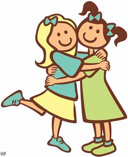 Friends Clip Clipart Friend Friendship Heart Cartoon