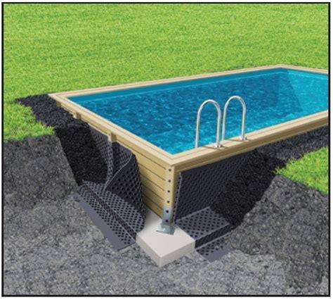 piscine bois rectangulaire enterree piscine en bois kit piscine bois prix discount