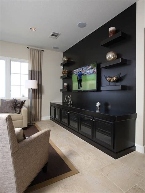 Take notes from these styling, examples, and shopping tips. 30 Ways To Decorate The TV wall - Bored Art