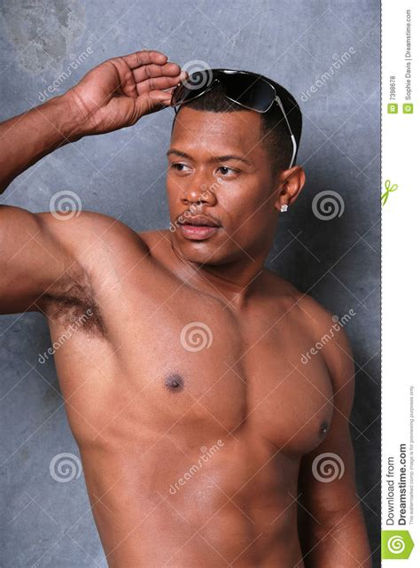 Attractive Black Man Stock Photo Image Of Athlete