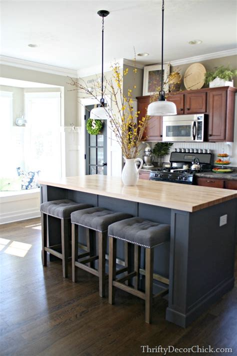 decorating a kitchen island updated kitchen pics from thrifty decor