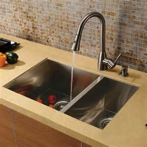 kitchen faucet and sink combo vigo vg15026 16 stainless steel zero edge 60 40 bowl kitchen sink and faucet combo