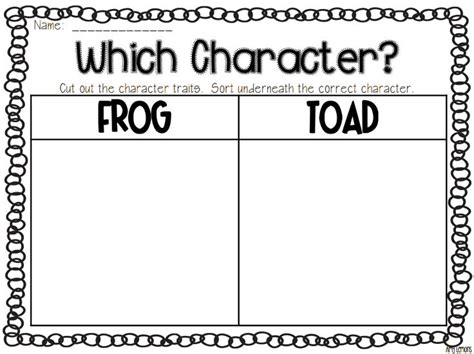 Frog and Toad Printable Worksheets